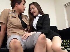 Hot Asian Secretary Takes Advantage 1