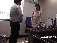 Korean porn Sizzling Korean Boss Lady
