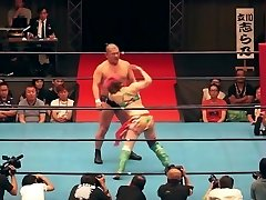 Scorching mixed wrestling