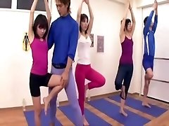 Japanese coach acquires erection at the gym three