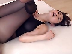 Tights fetish she's happy to indulge