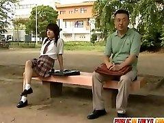 Japanese teenie is fucked on toilet