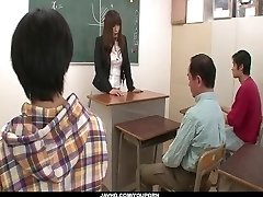 Insolent teacher is in for a super-hot plow at school