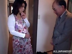Scorching Japanese model gets poked in all her holes