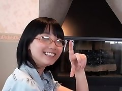 Asian Glasses Girl Blowjob