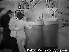 Vintage Porn 1930s - FFM Threesome - Nudist Bar