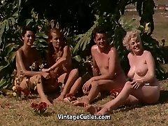 Naked Girls Having Joy at a Naturist Resort (1960s Vintage)