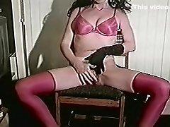 Incredible amateur Stockings, Masturbation sex scene