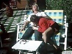 Italian vintage porno: Supah Ramba outdoor slammed