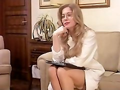 Vintage Hairy Mature has a Threesome and DP in Underwear!