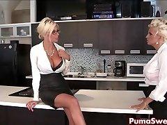 Puma Swede & Bobbi jsou ty Lesbickou Office Děvka!