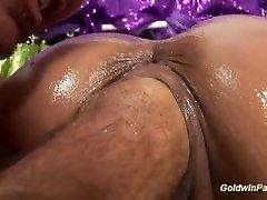oiled busty Milf deep going knuckle deep