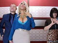 Giant Blonde Bosoms in the Elevator