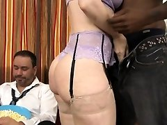 Cuckolding milf pounded by big black man-meat