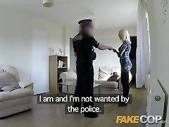 Fake Cop Super-bitch gets pummeled by cop in her flat