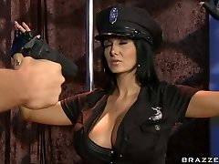Busty police officer Ava Addams longing for hard stick
