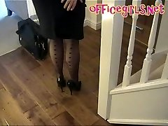 Big Tits, جوراب ساق بلند در خانه