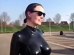 Huge funbags latex slow motion awesome