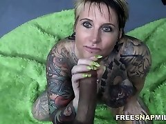 Tattooed Cougar gets a hardcore ravage by FreeSnapMilf