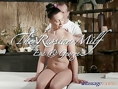 Massage Rooms Sexy Russian Milf has multiple climaxes from expert masseur