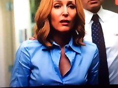 Dana Scully X-Files rock rigid nips