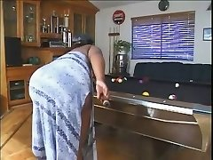 Plumper On The Pool Table