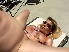 Hot Tanned Busty Milf Krystal Summers Nailing Poolside