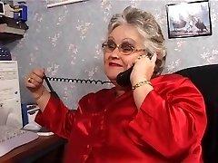 Plus-size granny sucks and fucks in stockings
