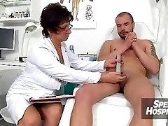 Czech nurse chick Marta old with youthful handjob