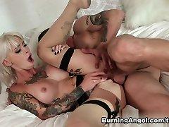 exotické pornstar kleio valentien v nadržený, punčochy, lízání sex scéna
