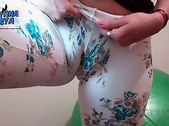 Thick Pussy Lips! Big Cameltoe! Flower Power Latino
