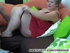 Chubby amateur Milf homemade hardcore action