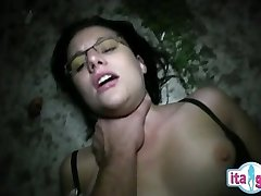 Italian mom and son internal cumshot eating