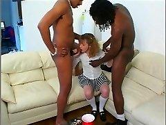 Babysitter does black DP