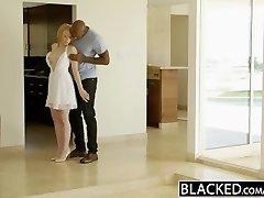 BLACKED Blonde Babysitter Trillium Fucks her Black Chief