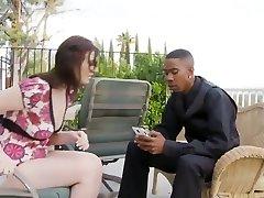 Black couple fucks white babysisters