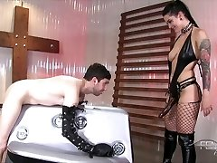 Mistress Katrina Jade's Large Black Cord-on Cock!