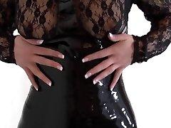 Black latex, heels and legs part 2