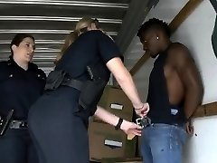 Two White Lady Cops Sucking Great Good-sized Black Dudes Dong