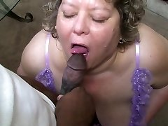 Chubby Granny Knows How To Suck Dark-hued Cock