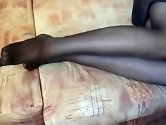 It's getting super-fucking-hot in black thick nylon