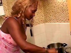 Black Mature Maid Fucks With Her Manager