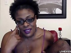 Ebony aged mistress Laveaux with a fat wooly pussy