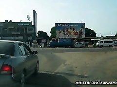 Real African Hottie Fucking Euro Guy