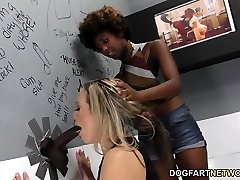 Daizy Cooper and Carmen Valentina Find Out Big Black Cock - Gloryhole