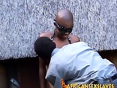 Trimmed African in leather bound and humped