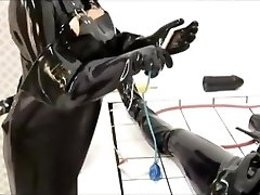 Black love glove mortuary slab
