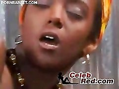 Africký Sexy Žena V Prdeli Pevný