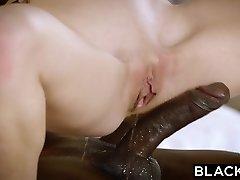 BLACKED Redhead Kimberly Brix First Big Ebony Cock