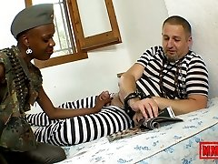 Bianka Blacka & Terry in Fuck-fest With A Magnificent African Soldier - MMM100